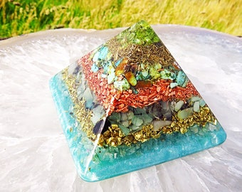 Good Luck Orgone Pyramid (Small) - FREE WORLDWIDE SHIPPING!