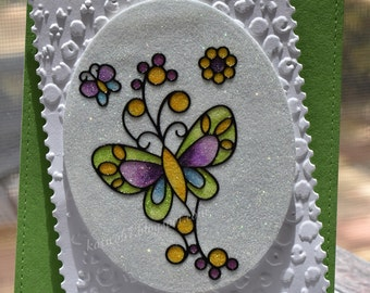 Glitter Butterfly Card