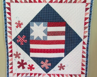 PATTERN Flag Quilt Pattern/Patriotic Pattern/4th of July/Flag Quilt