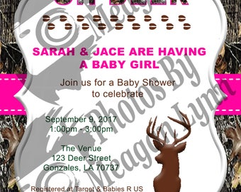 Camo Baby Shower Invitation *DIGITAL*