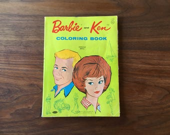 1962 Barbie And Ken Coloring Book Whitman 1183 FREE USA Shipping