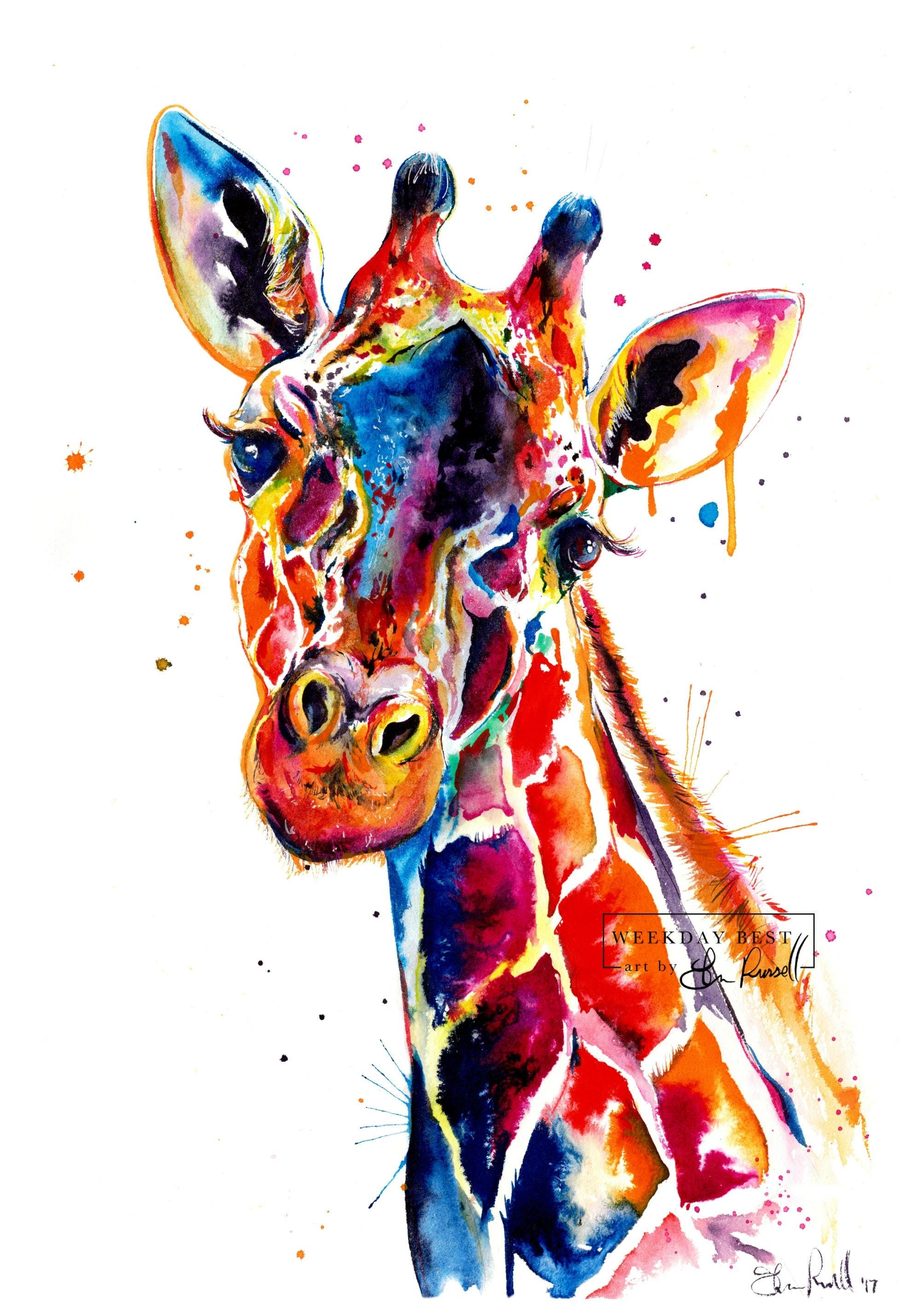 Giraffe Painting Uk
