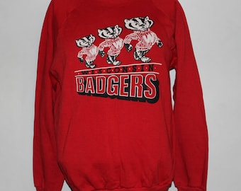 Vintage Wisconsin Badgers NCAA Crewneck Sweatshirt L