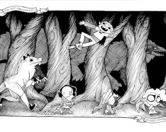Original The Last Halloween-related art-- 11x17in