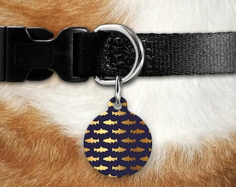 Golden Ocean Sharks Pet ID Tag, Cat Tag, Dog Tag, Pet Tag, Marine Life, Shark Gift, Land Shark, German Shepherd, Double Sided Pet Tag, Puppy