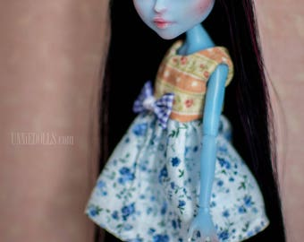 OOAK Custom Kiyomi Haunterly customized Monster High doll (repainted, rerooted)
