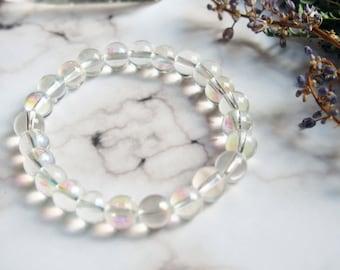 Clearance - Aura Rainbow Iridescent Stretch Bracelet
