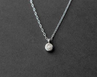 Tiny Sterling Silver Necklace - Silver Tiny Pendant - Everyday Necklace - Teeny Tiny Necklace