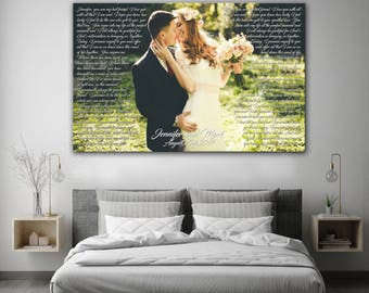 First Dance Lyrics, Wedding song lyrics, first anniversary art, First anniversary gift, personalized wedding song and photo art