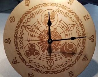 Legend of Zelda inspired wooden clock