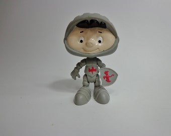 1995 Bobby's World Medieval Knight Mini Bobby Character Toy Novelty Cake Topper Decoration, Kids Meal Cartoon Collectible
