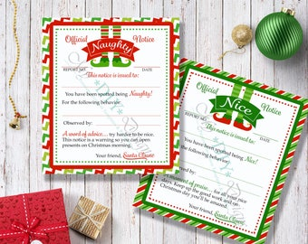 Shelf Elf Naughty or Nice Cards - Print Ready PDF