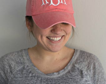 MONOGRAMMED BASEBALL HAT - Personalized Ball Cap -  Monogram Cap -  Baseball Cap for Women -  Bridesmaid Gift -  Personalized Hat