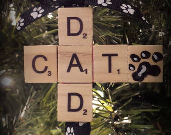 Gift for Cat lover - Cat Lover Gift - Cat Dad Christmas - Cat Dad Xmas - Gifts Under 10 - Cat Dad Present - Cat Dad Ornament - Xmas Cat Dad