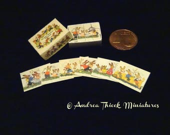Miniature Rabbit Cube Puzzle - Artisan Handmade Miniature 1:12 scale