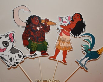 Moana Large Centerpiece and Cake Topper