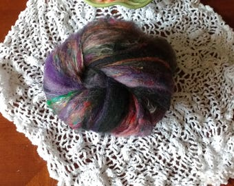 Boho Chic colors alpaca silk bamboo batt
