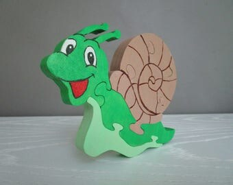 My friend the snail puzzle wood