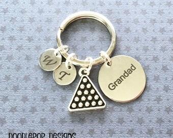 Personalised Grandad gift - Birthday gift for Grandad - Grandad keyring - Pool player gift - Snooker keyring - Pool keychain - UK seller