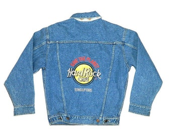Vintage Hardrock Cafe Singapore Denim Jacket
