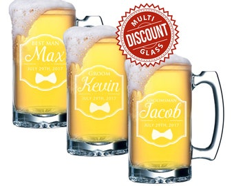 groomsmen beer mug custom beer glasses gifts for groomsmen etched glasses groomsmen