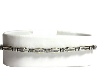 Lovely 14k White Gold and 2 CTW Diamond Bracelet