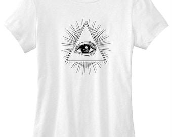 Evil eye graphic t-shirt funny ladies girls women tee tumblr instagram gift girls