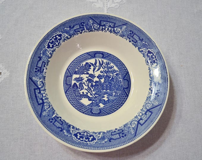 Vintage Blue Willow Round Serving Bowl Blue White China Replacement PanchosPorch