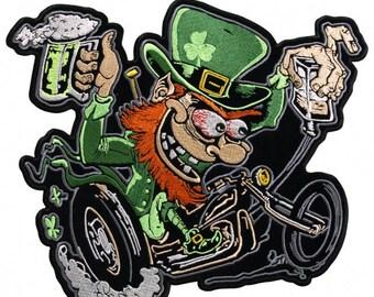 Irish bikers • leprechaun St Patrick • Shamrock green • green • four leaf clover leaves