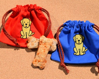 Yellow Labrador Dog Treat Bag, Labrador Bag, Labrador Treat Bag, Dog Treat Bag, Gun Dog Treat Bag, Labrador, Puppy Treat Bag, Yellow Lab