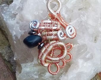 Wire Wrapped Two-Toned Pendant