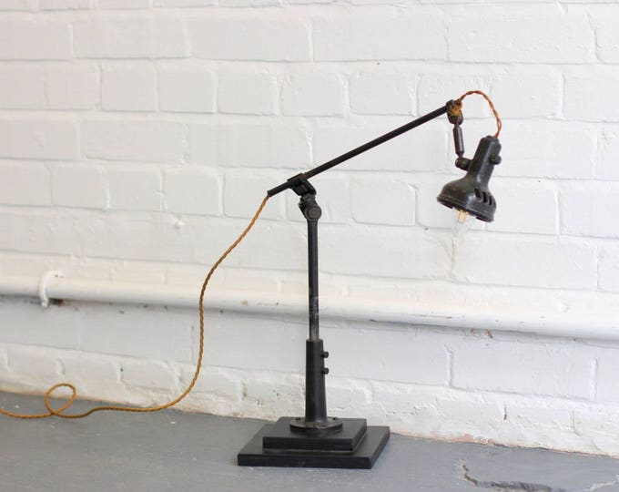 Elegant Textile Mill Lamp By Singer Circa 1930s