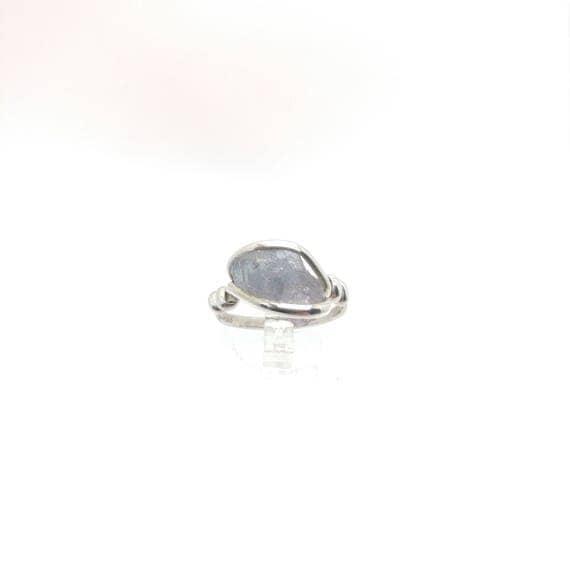 Tourmaline Crystal Ring | Raw Tourmaline Ring | Sterling Silver Ring Sz 8.25 | Rough Tourmaline Ring | Purple Tourmaline Jewelry