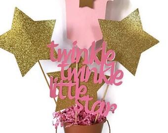 Twinkle Twinkle Little Star Centerpiece, Twinkle Twinkle Little Star Baby Shower Decorations