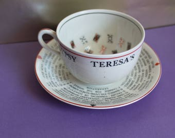 Gypsy Teresa's Fortune Telling Cup by J&G Meakin. c1950s. Cool Collectable and Quirky Vintage Gift.