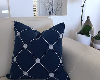 Cushions, Navy Cushions, Navy Pillows, Grey Pillows, Cushion Cover, Grey Cushions, Fanfare  Scatter cushions, Pillows