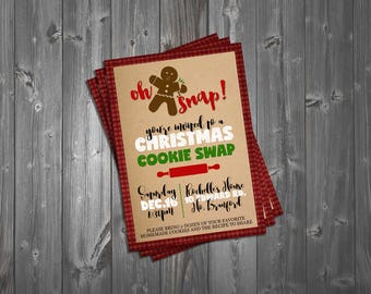 Oh Snap! Cookie Swap Party Invitation