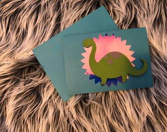 Holographic Dinosaur Card