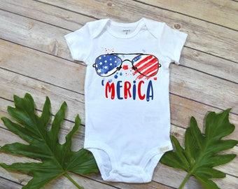 4th of July Shirt, Fourth of July Shirt, Merica, First 4th of July, Baby 4th of July Outfit, Baby Shower Gift, 4th, Murica, Funny America