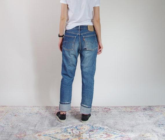 Vtg Levi's 615 street style boyfriend fit distressed denim jeans