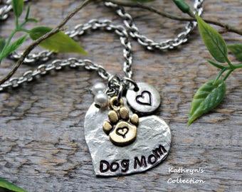 Dog Mom Necklace, Dog Mom Jewelry