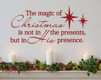 Attrayant Christmas Wall Decal. The Magic Of Christmas   Code 044