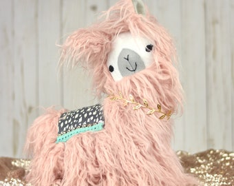 Fuzzy Stuffed Llamas/Alpacas -- Stuffed Animal