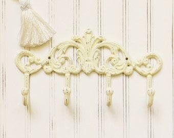 Cast Iron Coat Hook,Cast Iron Wall Hooks,Hallway Hooks, Decorative Coat Hook,Entryway Hooks, Iron Wall Decor,Iron Home Decor,French Country