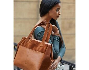 Leather tote bag/weekender bag/Leather bag/gift for her/everyday tote/brown tote/shoulder bag/Tote bag/Women bags/leather bag/large tote bag