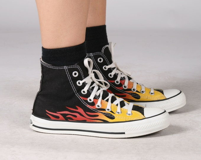 Flame Converse Chuck Taylor Sneakers