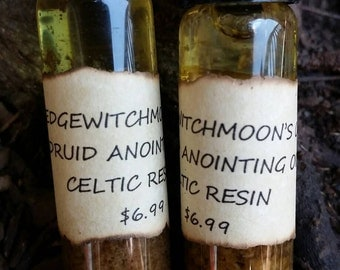 Celtic/Druid Resin Ritual Anointing Oil.Made From Celtic/Druid Resin.Now It Comes In An Anointing Oil! Anoint Your Crystals.Candles.Tools.