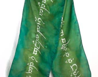 Green Elvish Silk Scarf