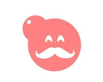 Emoji Mustache Cookie, Emoji Mustache Stencil, Fathers Day Mustache Cookies, Fathers Day Cookie Stencil, Baby Shower Cookies, Dad Stencil