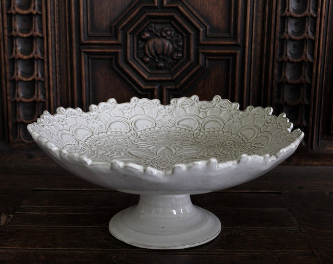 Lacy Mandala Footed Bowl